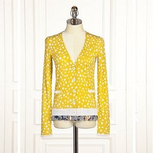 Anthropologie Leifsdottir Polka Dot Cardigan